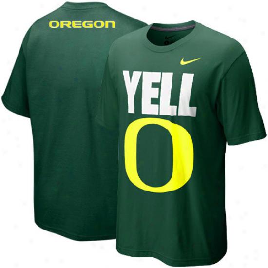 Nike Oregon Ducks Young men Yello O T-hirt - Green