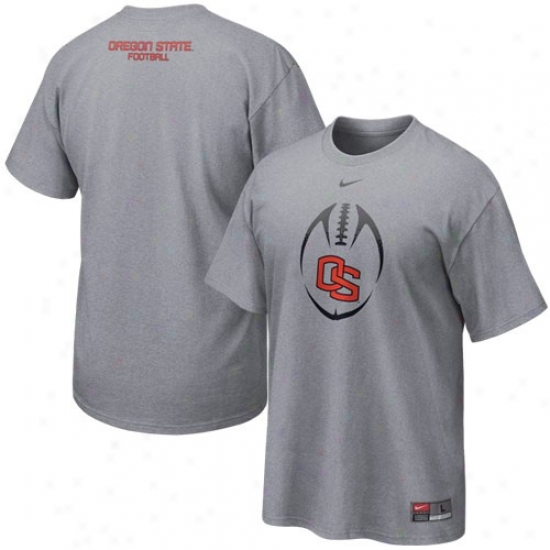 Nike Oregon State Beavers Ash Team Issue T-shirt