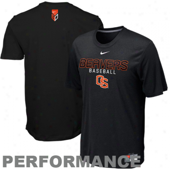 Nike Oregon Staate Beavers Baseball Legend Ii Performance T-shirt - Black