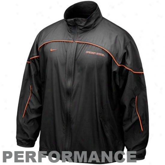 Nike Oregon State Beavers Black Run Blitz Full Zip Performance Jacket