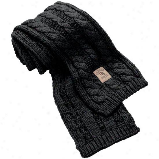 Nike Oregon State Beavers Ladies Black Woven Knit Scarf