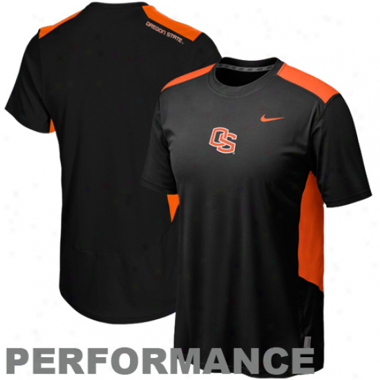 Nik eOregon State Beavers Speed Fly Performance Premium T-shirt - Black