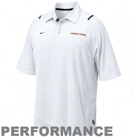 Nike Oregon State Beavers White Conferencw Corner Peeformance Polo
