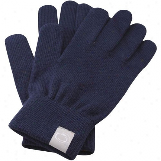 Nike Penn State Nittany Lions Ladies Navy Blue Knit Gloves