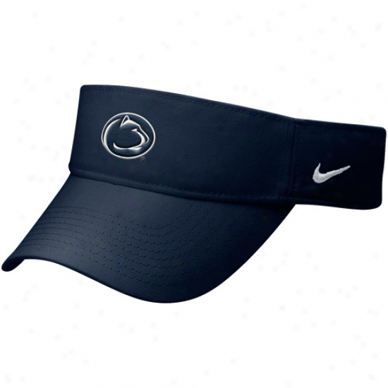Nike Penn State Nittany Lions Navy Blue Stadium Adjustable Visor