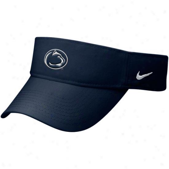 Nike Penn State Nittany Lions Navy Blue Stadium Adjustable Visor