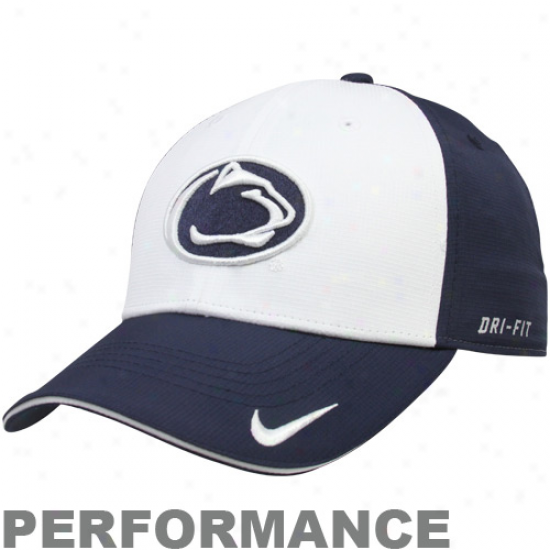Nike Penn State Nittany Lions Navy Blue-whte Training Legacy 91 Performance Adjustable Hat