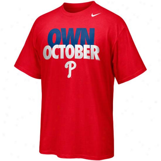 Nike Philadelphia Phillies Own October T-shirt - Red