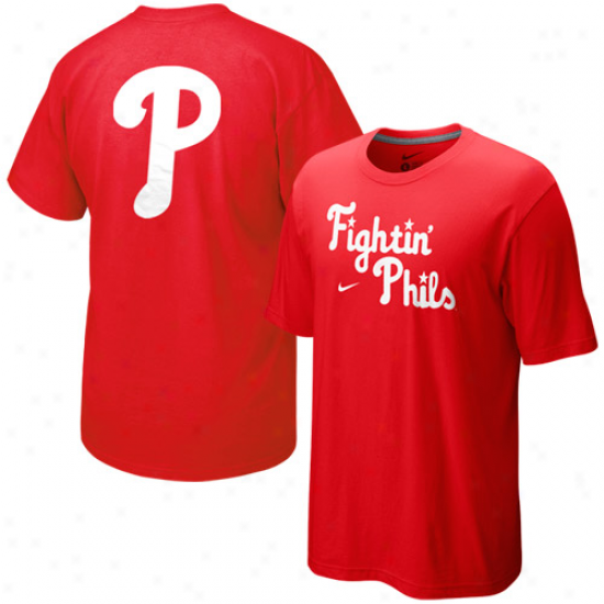 Nike Philzdelphia Phillies Red Local T-shirt
