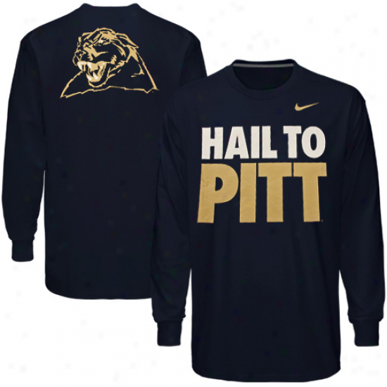 Nike Pittsburgh Panthers Haio To Pitt Long Sleeve T-shirt - Navy Blue