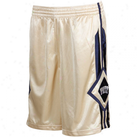 Nike Pittsburgh Panthers Old Gold In Your Face Basketball Shorts