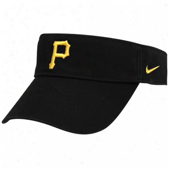 Nike Pittsburgh Pirates Black Stadium Adjustable Visor