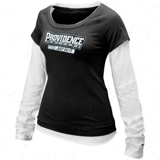 Nike Providence Friars Ladies Murky Just Do It Layered Long Sleeve T-shirt