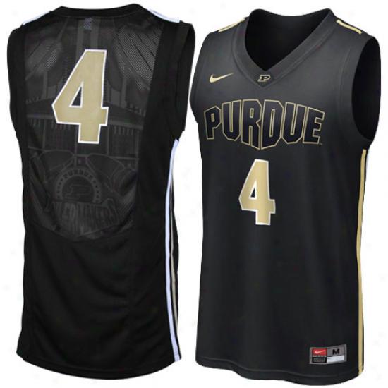 Nike Purdue Boilermakers #4 Juvenility Replica Basketball Jersey - Black