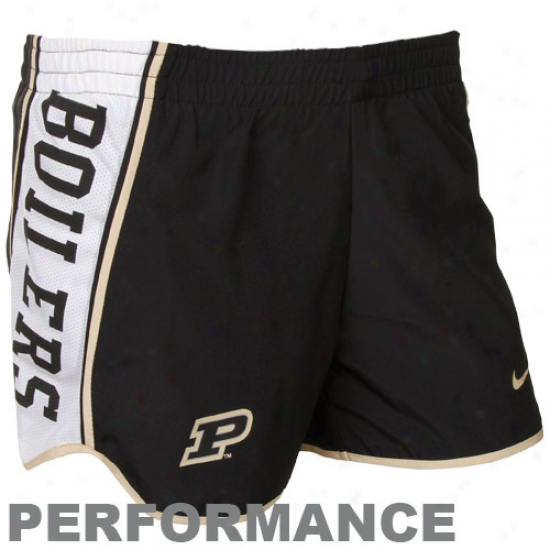 Nike Purdue Boilermakers Ladies Black Pacer Performance Shorts