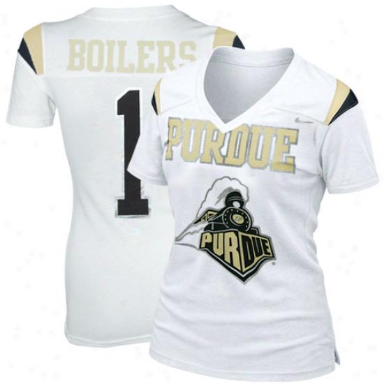 Nike Purdue Boilermakers Ladies Replica Football Premium T-shirt - White