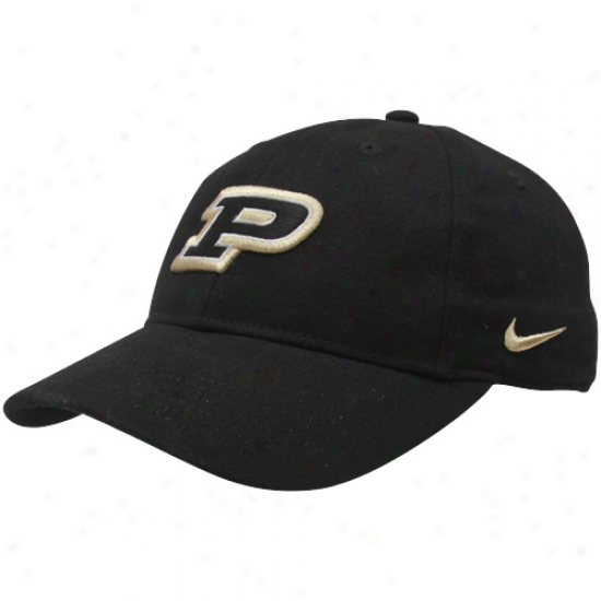 Nike Purdue Boilermakers Youth Black Classic Adjustable Hat