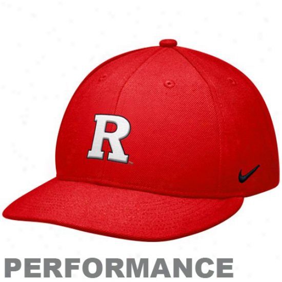 Nike Rutgers Scarlet Knights Scarlet Sideline Swoosh Performance Flex Hat