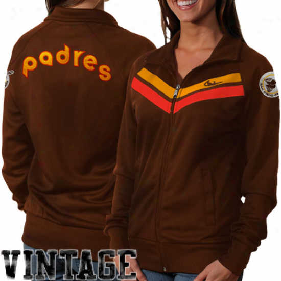 Nike San Diego Padres Women's Cooperstown Track Jacket - Brown