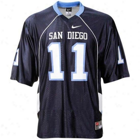 Nike San Diego Toreros #11 Replica Football Jersey - Navy Blue
