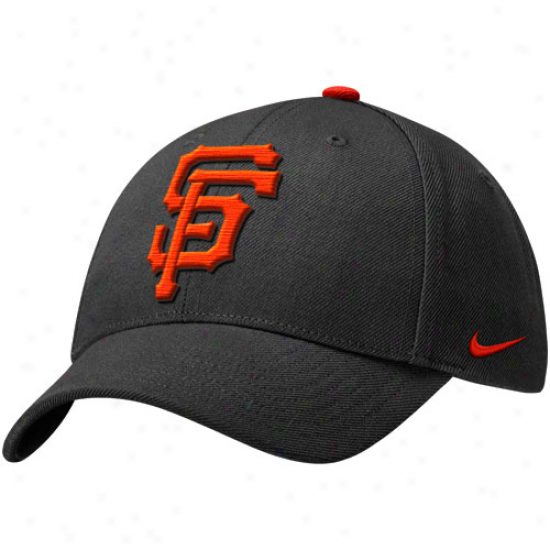Nike San Francisco Gisnts Classic Wool Blend Adjustable Hat - Charcoal