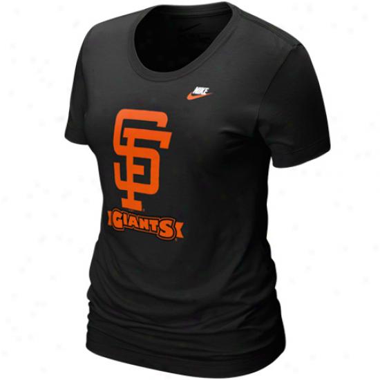 Nike San Francisco Giants Ladies Black On Dress T-shirt