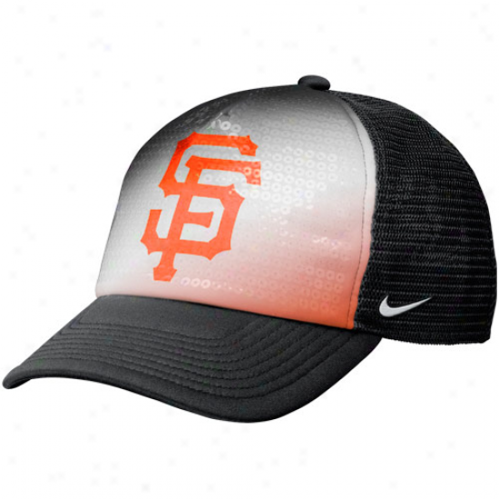 Nike San Francisco Giants Ladies Fashion Trucker Hat - Negro