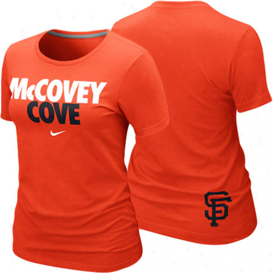 Nike San Francisco Giants Ladies Mccovey Inlet Topical Premium T-shirt - Orange