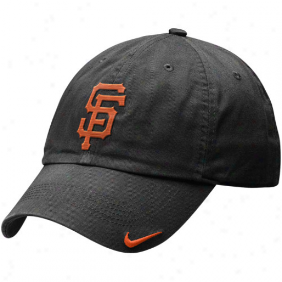 Nike San Francisco Giants Relaxed Staddium Adjustable Hat - Charcoal