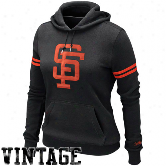 Nike San Francjsco Giants Women's Cooperstown Collection Pullover Hoodie - Black