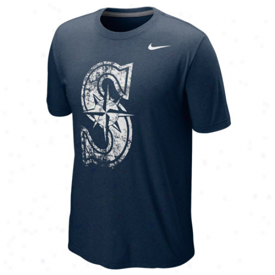 Nike Seattle Mariners Blended Graphic Tri-blend T-shirt - Ships Blue