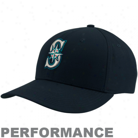 Nike Seattle Mariners Dri-fit Prractice Adjustable Hat - Navy Blue
