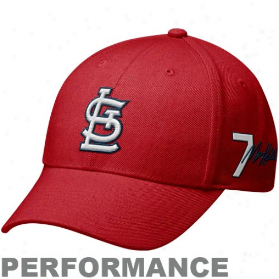 Nike St. Louis Cardinals #7 Matt Hollida yRed Legacy 91 Player Performance Adjustable Hat