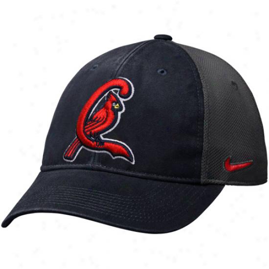 Nike St. Louis Cardinals Legacy 91 Swoosh Flex Hat - Navy Blue