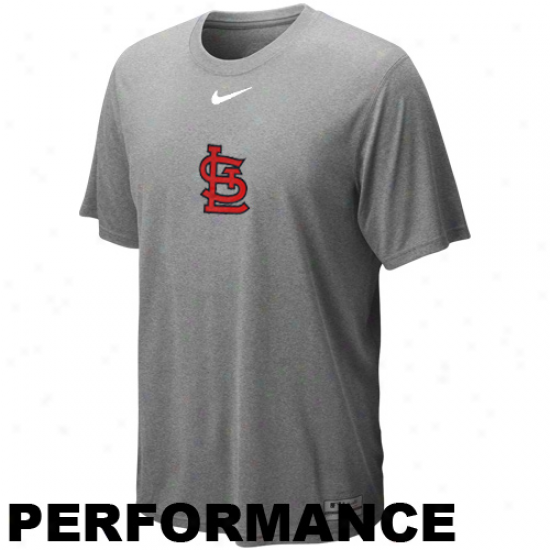 Nike St. Louis Cardinals Legend Logo Performance T-shirt - Ash