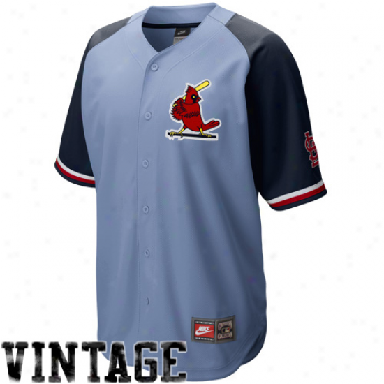 Nike St. Louis Cardinals Light Blue-navy Blue Cooperstown Quick Pick Vintage Baseball Jersey