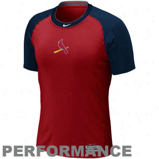 Nike St. Louis Cardinals Pro Combat Heart 1.2 Performance T-shirt - Red