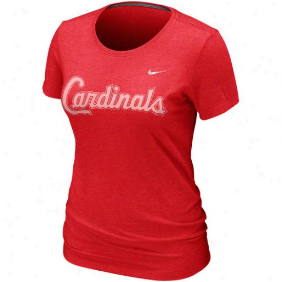 Nike St. Louis Cardinals Womens Burnout Graphic Premium T-shirt - Red