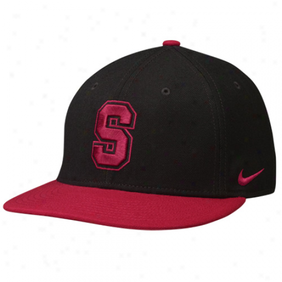 Nike Stanforc Cardinal Blacl 2011 Pro Combat Competition Snapback Adjustable Hat