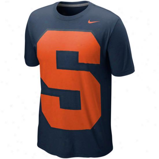 Nike Syracuse Orange Blended Vivid Tri-blend T-shirt - Navy Blue