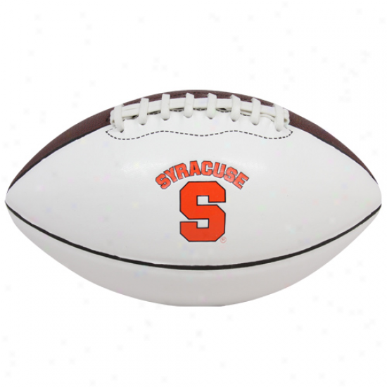 Nike Syracuse Orange Youth White-brown Mini Autograph Football