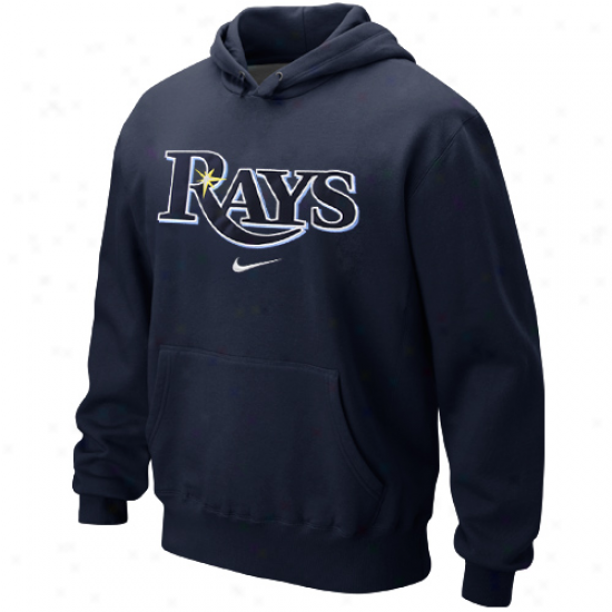 Nike Tampa Bay Rays Classic Pullover Hoodie - Navy Blue
