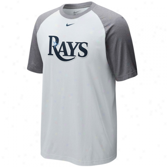Nike Tampa Bay Rays Cup Of Coffee Raglan T-shirt - White-ash
