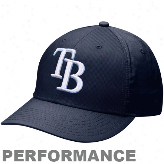 Nike Tampa Bay Rays Dri-fot Practice Adjustable Hat - Navy Blue