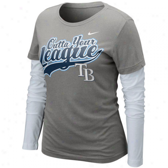 Nike Tampa Bay Rys Ladies League Double Layer Long-winded Sleeve T-shirt - Charcoal-white