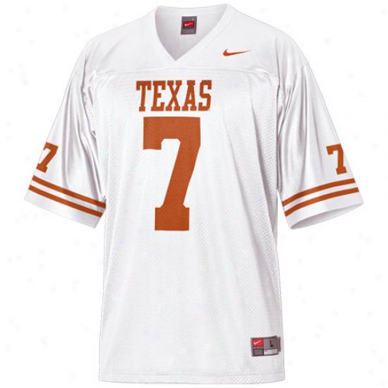 Nike Texas Longhorns #7 Youth Replica Football Jersey-white