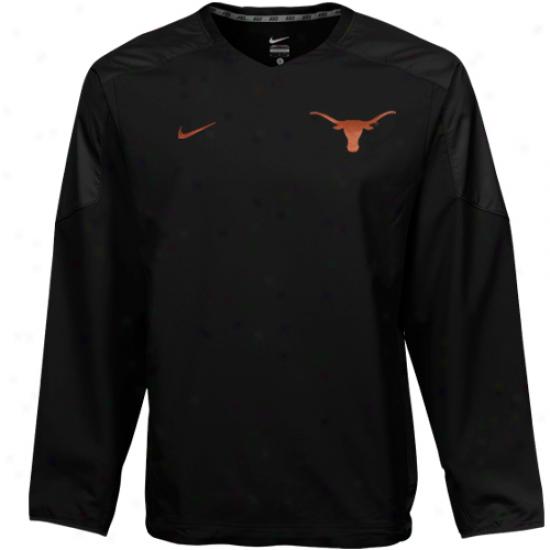 Nike Texas Longhorns Black Acceleration V-neck Pullover Windshirt