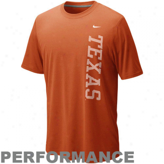 Nike Texas Longhorns Dri-fit Legend Performance T-shjrt - Orange