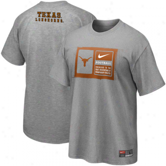 Nike Texas Longhorns Team Issue T-shirt - Ash