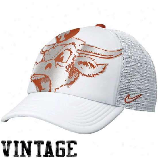 Nike Texzs Longhorns Women's Retro Truvker Hat - White
